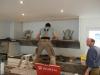 Die Küche wird aufgebaut